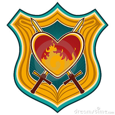 Crest with heart.