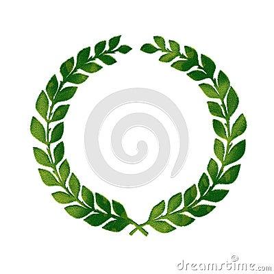 Crest made of grass