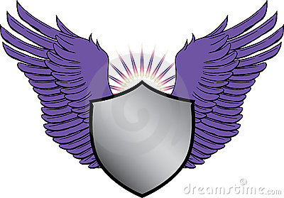 Crest with wings