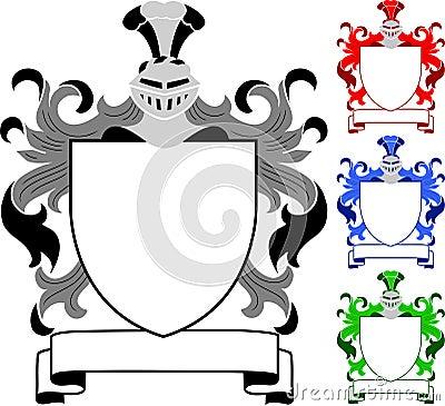 Cresta/capa de brazos heráldicas