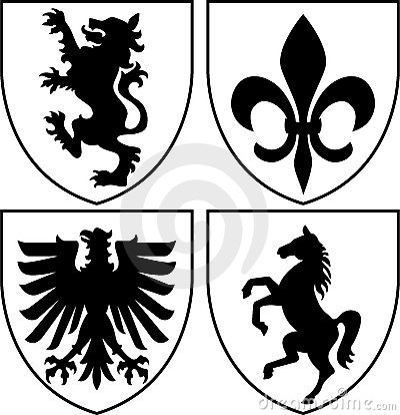 пальто рукояток crests eps heraldic
