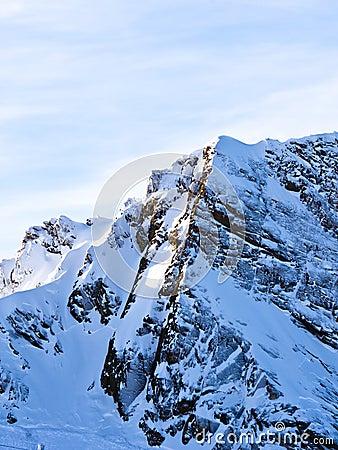 Crests near the top of Kaprun glacier