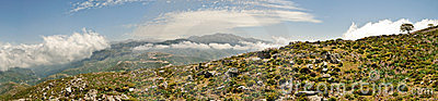 Cretan Mountains Panorama