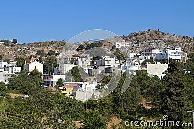 Crete island in Greece. Anogia village