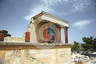 Crete knossos temple
