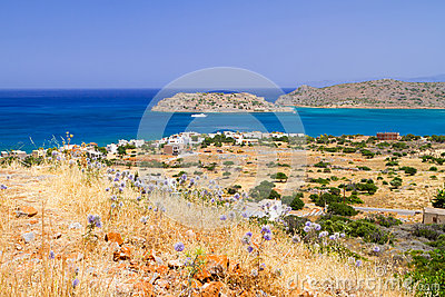 Crete scenery with Mirabello Bay