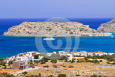Crete scenery with Spinalonga island