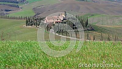 Crete Senesi, Siena, Toscana, Italia stock footage