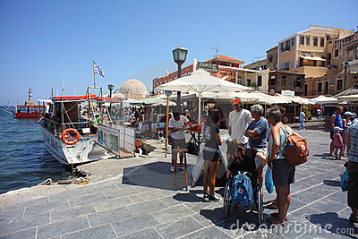 Crete tourism Editorial Stock Image