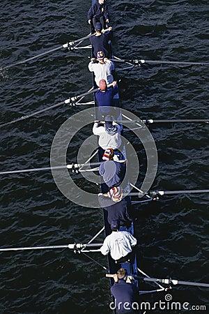 Crew team Editorial Stock Image