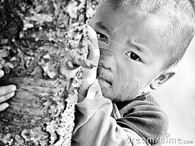 Crianças deficientes felizes Imagem Editorial