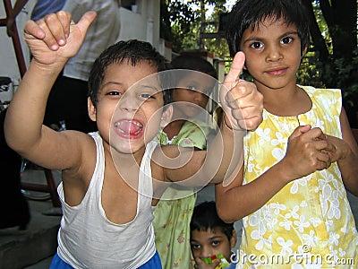 Crianças indianas deficientes Imagem de Stock Editorial