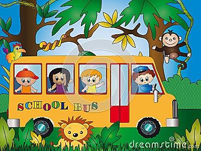 Crianças no jardim zoológico