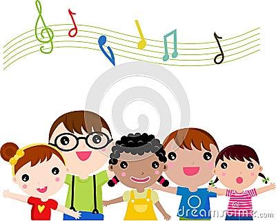 Crianças que cantam
