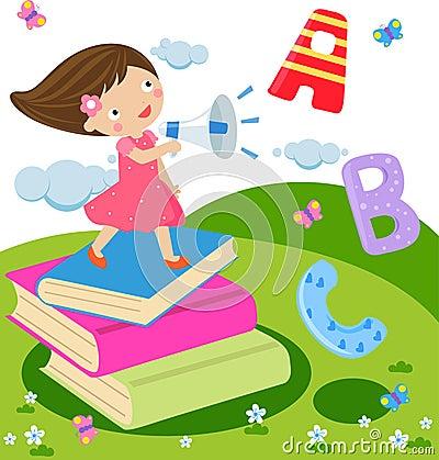 Crianças e inglês do divertimento