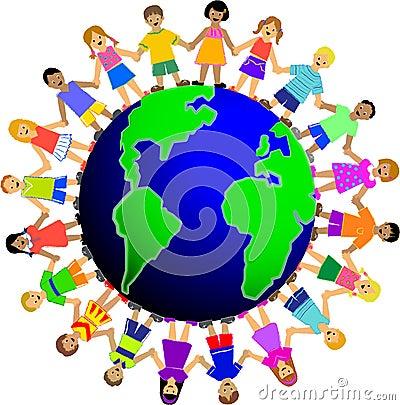 Crianças em torno do mundo