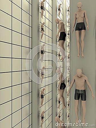 Criação humana do laboratório