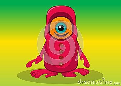 Criatura com um só olho, ilustração