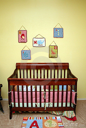 Free Crib In Nursery Royalty Free Stock Photo - 8366625