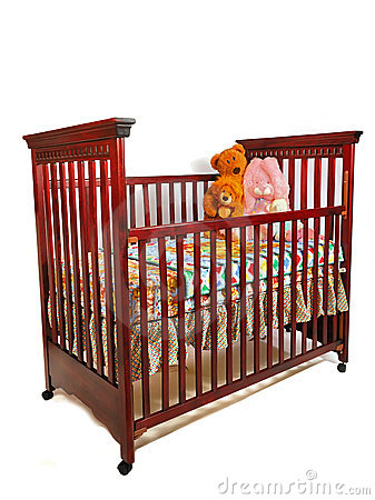 Free Crib Waiting For Baby Royalty Free Stock Image - 2370076