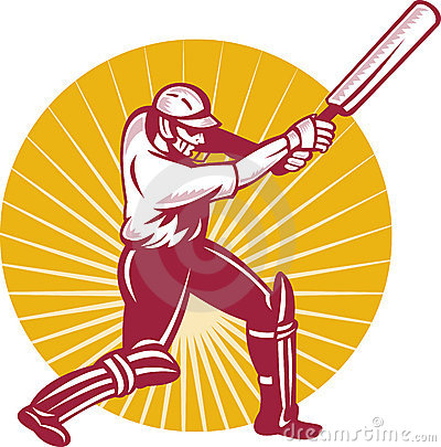Cricket batsman batting