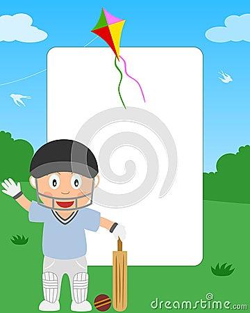Cricket Boy Photo Frame