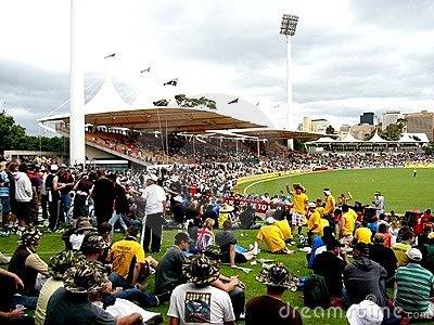 Cricket Crowd Editorial Photography