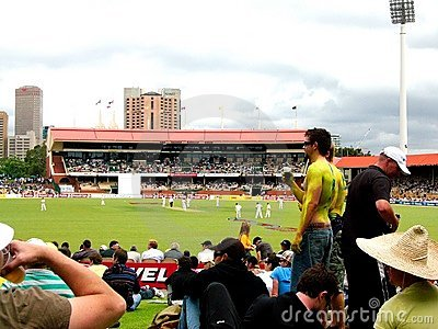 Cricket & Crowd Editorial Stock Image