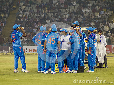 Cricket Drinks Break Editorial Stock Image