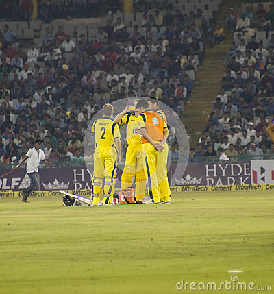 Cricket Drinks Break Editorial Image
