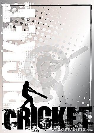 Cricket golden poster background 2