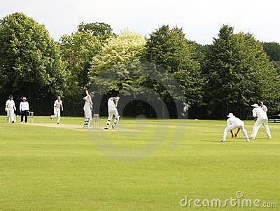 Cricket match Editorial Stock Image