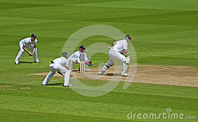 Cricket at The Oval Editorial Stock Photo