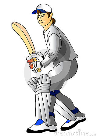 Cricket Player Stock Photo - Image: 7293770