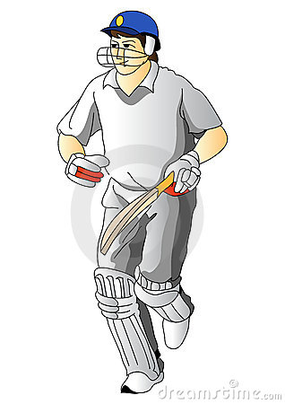 Cricket Player Stock Photo Image 7293770