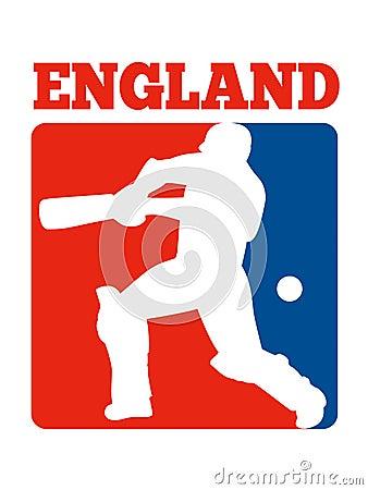 Cricket player batsman batting retro England