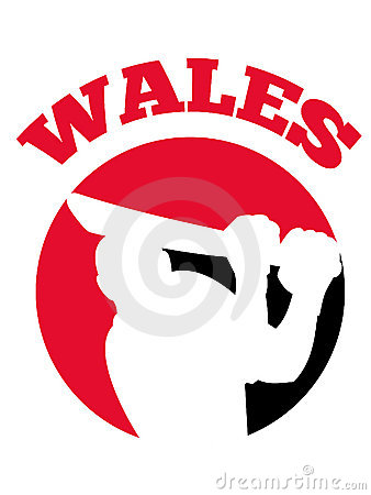 Cricket player batsman batting retro Wales