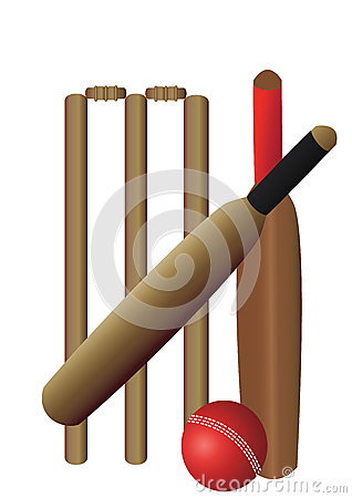 Cricket set with two bats