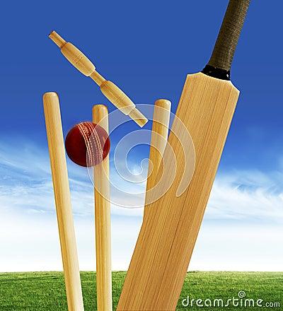 Cricket Stumps Stock Photography - Image: 8425652