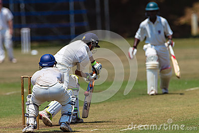 Cricket Summer High Schools Game Editorial Stock Image
