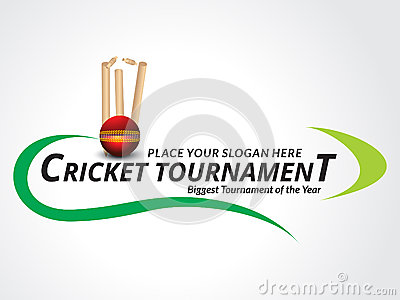 Cricket Tournament Banner Background Stock Vector - Image: 48415867