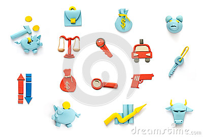 Crime and finance  icons