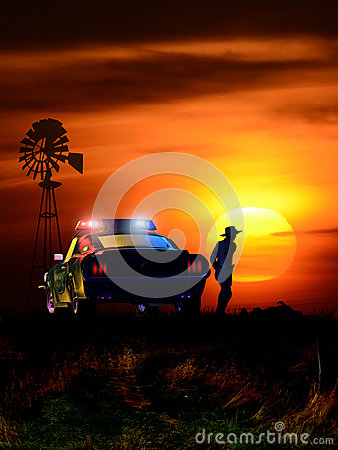 Free Crime Scene At Sunset Stock Image - 73201941