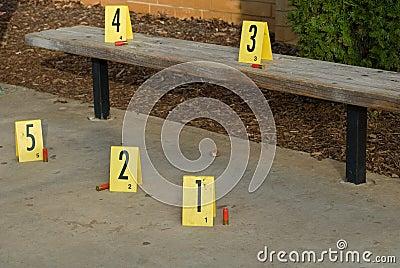 Crime Scene Bench