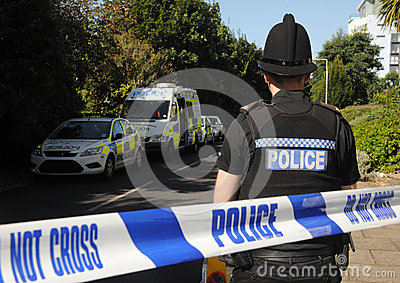 Crime scene cordon Editorial Stock Photo