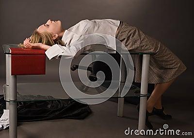 Crime scene with dead college girl