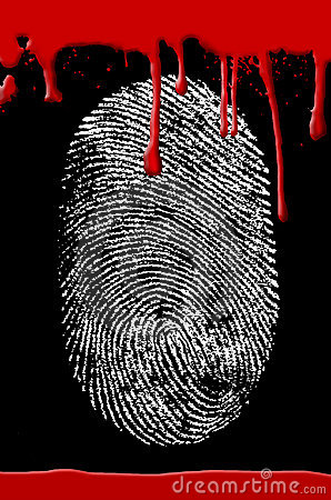 Crime scene Fingerprint blood