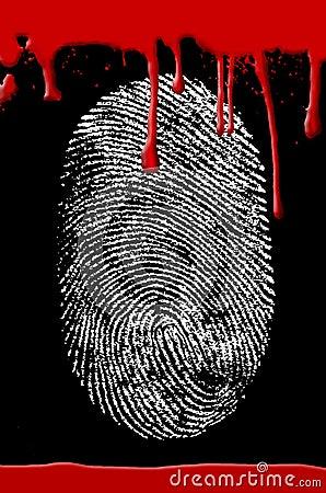 Free Crime Scene Fingerprint Blood Stock Images - 3230554