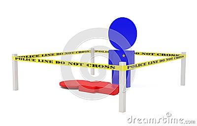 Crime Scene isolated on white
