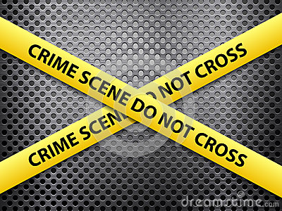 Crime scene metal background